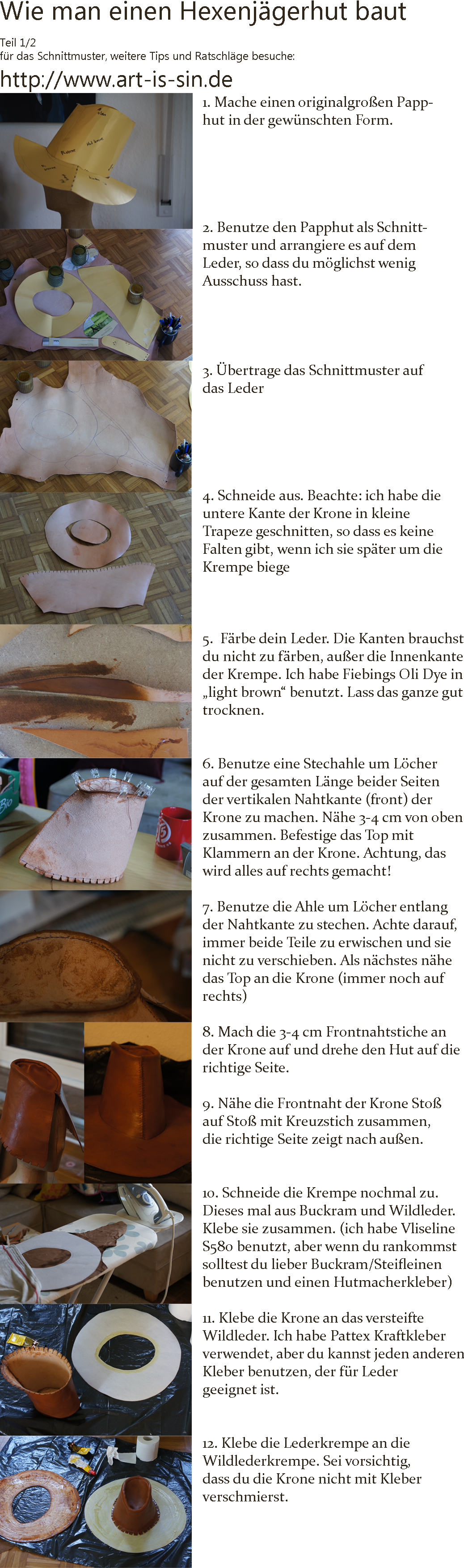 Anleitung und Schnittmuster: Hexenjäger-Hut (PIC HEAVY ...